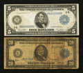 $5 and $20 1914 Federal Reserve Notes