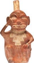 Antiques:Antiquities, Snarling Monkey Deity Impersonator...