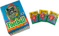 Football Cards:Boxes & Cases, 1986 Topps Football Display Box (1) - Possible Rice Rookie. ...