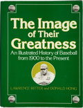 """Baseball Collectibles:Publications, Major League Baseball Legends Multi Signed """"The Images of theirGreatness"""" Hardcover Book...."""