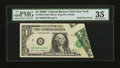 Error Notes:Foldovers, Fr. 1907-B $1 1969D Federal Reserve Note. PMG Choice Very Fine 35.....