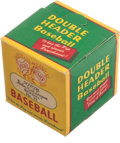"Autographs:Bats, Circa 1950's J. DeBeer & Son Double Header ""Babe Ruth League""Baseball in Original Boxes...."
