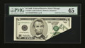 Error Notes:Foldovers, Fr. 1987-G $5 1999 Federal Reserve Note. PMG Choice Extremely Fine45.. ...