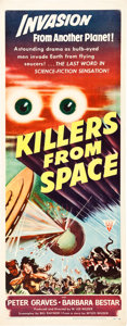 """Movie Posters:Science Fiction, Killers From Space (RKO, 1954). Insert (14"""" X 36"""").. ..."""
