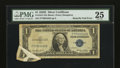 Error Notes:Foldovers, Fr. 1614 $1 1935E Silver Certificate. PMG Very Fine 25.. ...