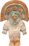 Antiques:Antiquities, A Standing Figure with Massive Headdress...