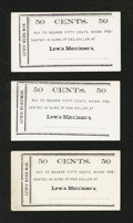 Obsoletes By State:Ohio, Kenton, OH- Lewis Merriman's 50¢ circa 1860's Three Examples. ...(Total: 3 notes)