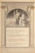 Mainstream Illustration, MAXFIELD PARRISH (American, 1870-1966). Christmas Eve,illustration of poem by Ednah Proctor Clarke, 1898. Pen, ink,and...