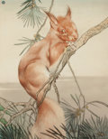 Mainstream Illustration, EDWARD JULIUS DETMOLD (British, 1883-1957). The RedSquirrel. Mixed media on paper. 10 x 7.5 in.. Initialed upperleft. ...