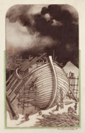 Mainstream Illustration, LEO AND DIANE DILLON (American, b. 1933). Noah's Ark, 1989.Pencil on vellum. 12 x 8 in.. Signed lower right. ...