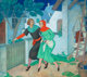 EDMUND DULAC (British, 1882-1953) The Millers' Tale, No. 5 Canterbury Tales, American Weekly illustration, c. 1942 Mix...
