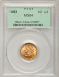 Liberty Quarter Eagles, 1893 $2 1/2 MS64 PCGS....