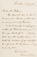 """Autographs:U.S. Presidents, Woodrow Wilson Autograph Letter Signed as a member of Princeton'sfaculty. One page, 5.25"""" x 7.75"""", Princeton, July 14, 1895...(Total: 2 Items)"""