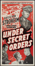 "Movie Posters:War, Under Secret Orders (Guaranteed Pictures, 1943). Three Sheet (41"" X79""). War.. ..."