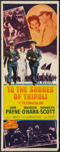"Movie Posters:War, To the Shores of Tripoli (20th Century Fox, R-1952). Insert (14"" X36""). War.. ..."