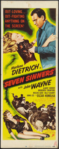 "Movie Posters:Adventure, Seven Sinners (Eagle Lion, R-1948). Insert (14"" X 36""). Adventure....."