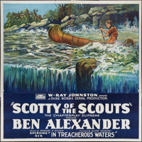 "Scotty of the Scouts (Rayart Pictures, 1926). Six Sheet (81"" X 81"") Episode 6 -- ""In Treacherous Waters.&..."