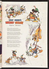 """Mickey Mouse in """"Alpine Climbers"""" (Good Housekeeping, 1936). Magazine (292 Pages). Animated"""