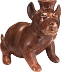 Antiques:Antiquities, Colima Figure of a Smiling Dog...