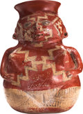 Antiques:Antiquities, Chupicuaro Corpulent Red and White Female...