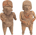 Antiques:Antiquities, Two Fine Chupicuaro Miniatures... (Total: 2 Items)