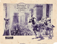 "The Fall of Babylon (David W. Griffith Corp., 1919). Lobby Cards (2) (11"" X 14""). ... (Total: 2 Items)"