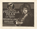 """Movie Posters:Crime, Outside the Law (Universal, 1920). Title Lobby Card (8"""" X 10"""").. ..."""