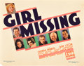 """Movie Posters:Mystery, Girl Missing (Warner Brothers, 1933). Title Lobby Card (11"""" X14"""").. ..."""