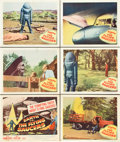 """Movie Posters:Science Fiction, Earth vs. the Flying Saucers (Columbia, 1956). Title Lobby Card andLobby Cards (5) (11"""" X 14"""").. ... (Total: 6 Items)"""