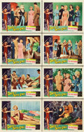 """Movie Posters:Science Fiction, Queen of Outer Space (Allied Artists, 1958). Lobby Card Set of 8(11"""" X 14"""").. ... (Total: 8 Items)"""