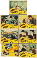 "Movie Posters:Comedy, The Flying Deuces (RKO, 1939). Title Lobby Card and Scene Cards (6)(11"" X 14"").. ... (Total: 7 Items)"