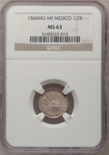 Mexico, Mexico: Republic 1/2 Real 1844Mo-MF,...