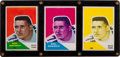 Football Cards:Singles (1960-1969), 1960 Fleer Football Mel Branch #100 Progressive Proofs Trio (3). ...