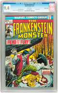 Bronze Age (1970-1979):Horror, Frankenstein #7 Western Penn pedigree (Marvel, 1973) CGC NM 9.4White pages....
