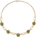 Estate Jewelry:Necklaces, Jade, Gold Necklace. ...