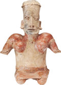 Antiques:Antiquities, Kneeling Woman with Red Decoration...