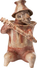 Antiques:Antiquities, Seated Armored Warrior with Club...