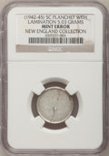 Errors, 1942 5C Jefferson Nickel--Planchet with Lamination, 5.03Grams--Type One NGC. Ex: New England Collection.. From The NewE...