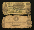 Confederate Notes:1862 Issues, $1 and $2 1862 Notes.. ... (Total: 2 notes)