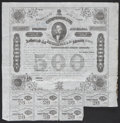 Confederate Notes:Group Lots, Ball 192 Criswell 124 $500 1863 Bond Fine. . ...