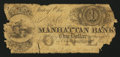 Obsoletes By State:Ohio, Manhattan, OH- Manhattan Bank $1 circa 1840. ...
