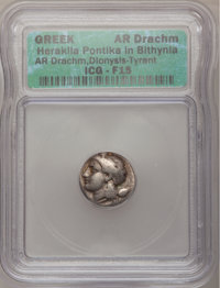 Ancients: Greek. BITHYNIA, Herakleia Pontika. 337-305 BC. AR drachm