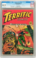 Golden Age (1938-1955):War, Terrific Comics #4 (Continental Magazines, 1944) CGC VG+ 4.5Off-white pages....