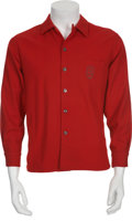 Music Memorabilia:Costumes, Buddy Holly's Red Wool Shirt....