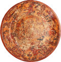Antiques:Antiquities, Maya Plate with Elaborate Ceremonial Scene...