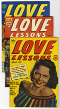 Golden Age (1938-1955):Romance, Love Lessons #2, 4, and 5 File Copy Group (Harvey, 1949-50)Condition: Average FN+.... (Total: 3 Comic Books)