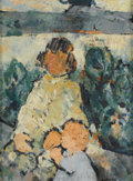 Fine Art - Painting, European:Contemporary   (1950 to present)  , PIERRE SULMON (French, b. 1932). Portrait of a Young Girl. Oil on canvas. 32in. x 23-1/2in.. Signed at lower right Sul... (Total: 1 Item)