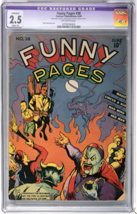 Funny Pages #38 (Centaur, 1940) CGC Apparent GD+ 2.5 Slight (A) Off-white pages