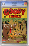 Golden Age (1938-1955):Funny Animal, Goofy Comics #1 Carson City pedigree (Nedor Publications, 1943) CGCVF- 7.5 White pages....