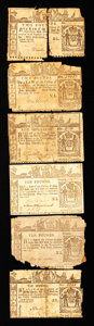 Colonial Notes:Mixed Colonies, New York Colonials Feb. 16, 1771. Six Notes. Good-Very Good.. ...